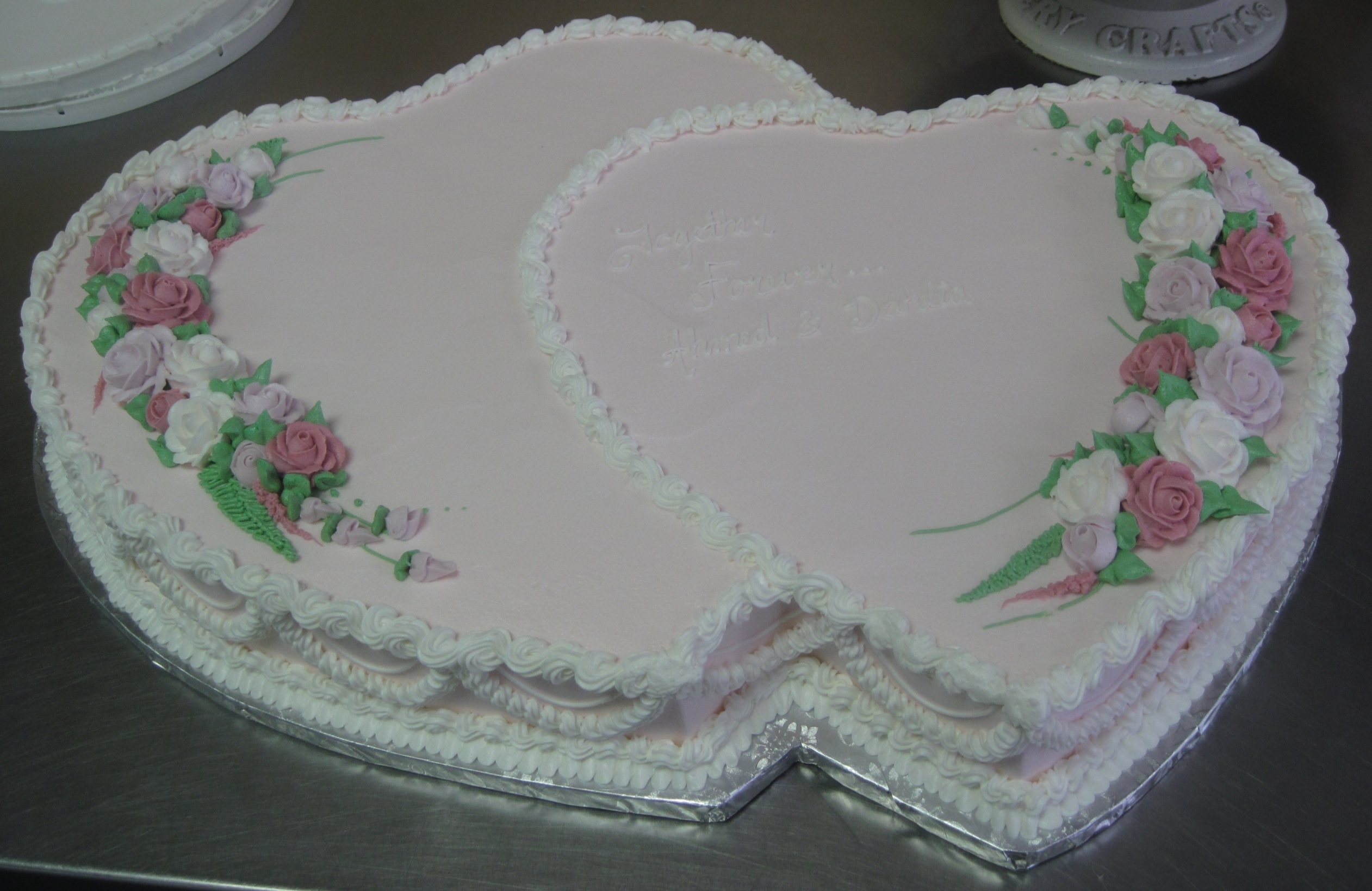 Heart Shaped Cake Pictures : Double Heart Shaped Cake Cakeworks  Blog