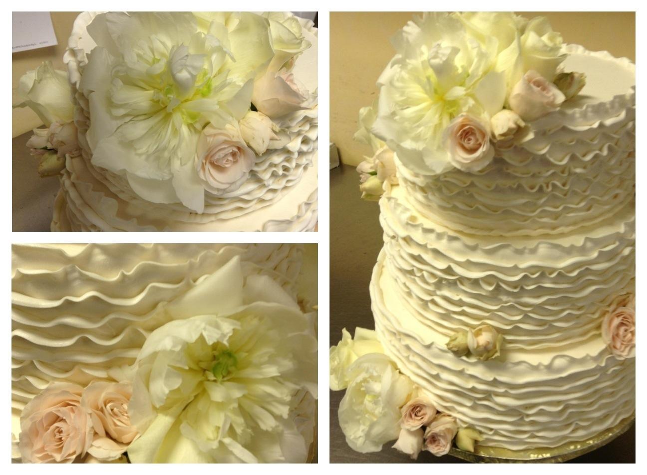 Ruffle Wedding Cake | Cakeworks\' Blog